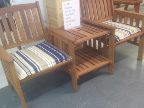 Garden Furniture Love Seat timber garden furniture - laois sawmills ltd