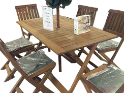 7-PIECE CONCORD HARDWOOD GARDEN SET