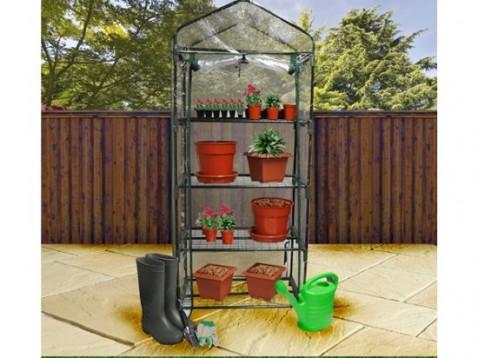 4-TIER PLASTIC GREENHOUSE