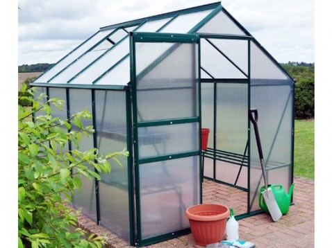 6×8 ALUMINIUM FRAMED GREENHOUSE