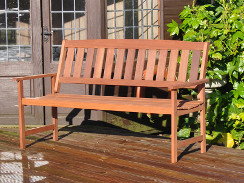 3 Seater Hardwood Garden Bench