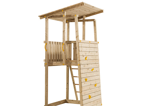 Children's Play House With Climbing Wall