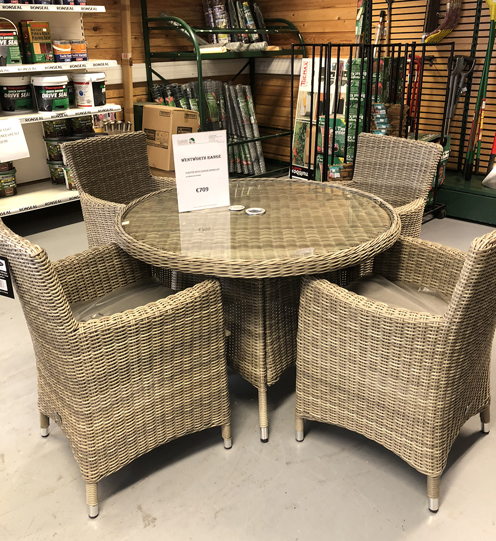 4 seater with carver dining set