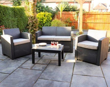 All Weather Rattan Effect Sofa Set