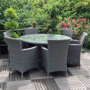 Cannes 6 Seater Grey Rattan Set