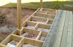 STEPS TO LAYING A DECK